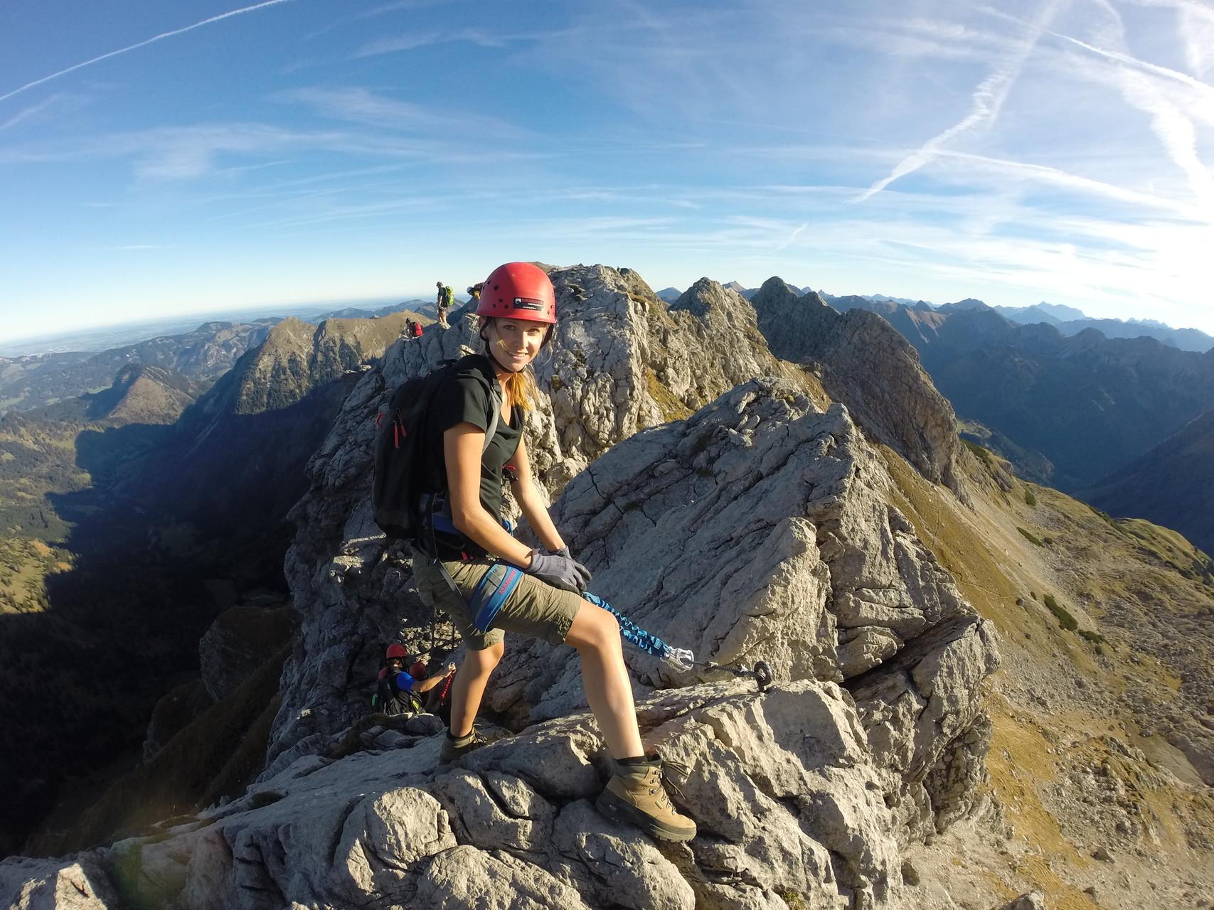 Klettersteig Hindelang : Unser erstes klettersteigerlebnis vom nebelhorngipfel über den