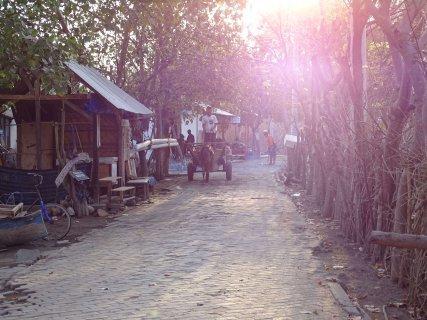 Straßen und Verkehr auf Gili Meno