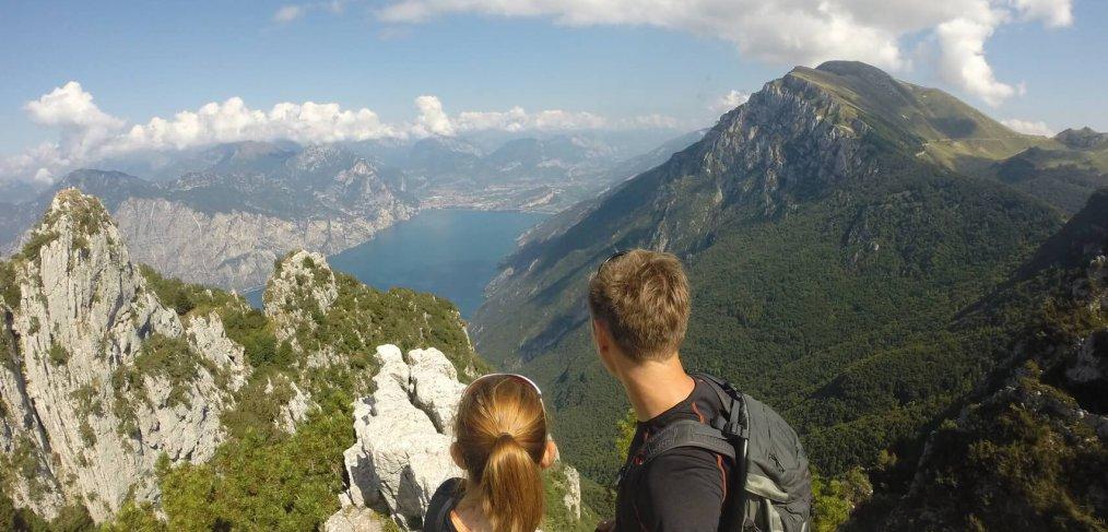 Sentiero del Ventrar Blick auf den Gardasee
