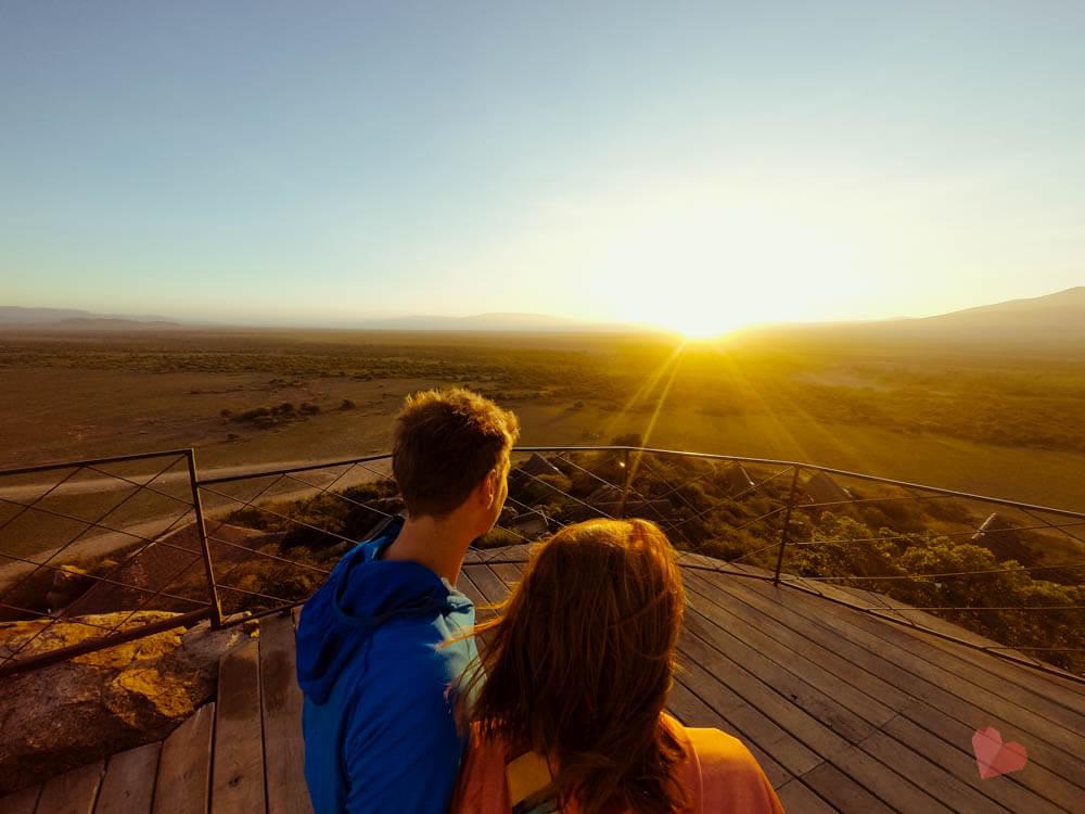 Sonnenaufgang vom Olduvai Camp