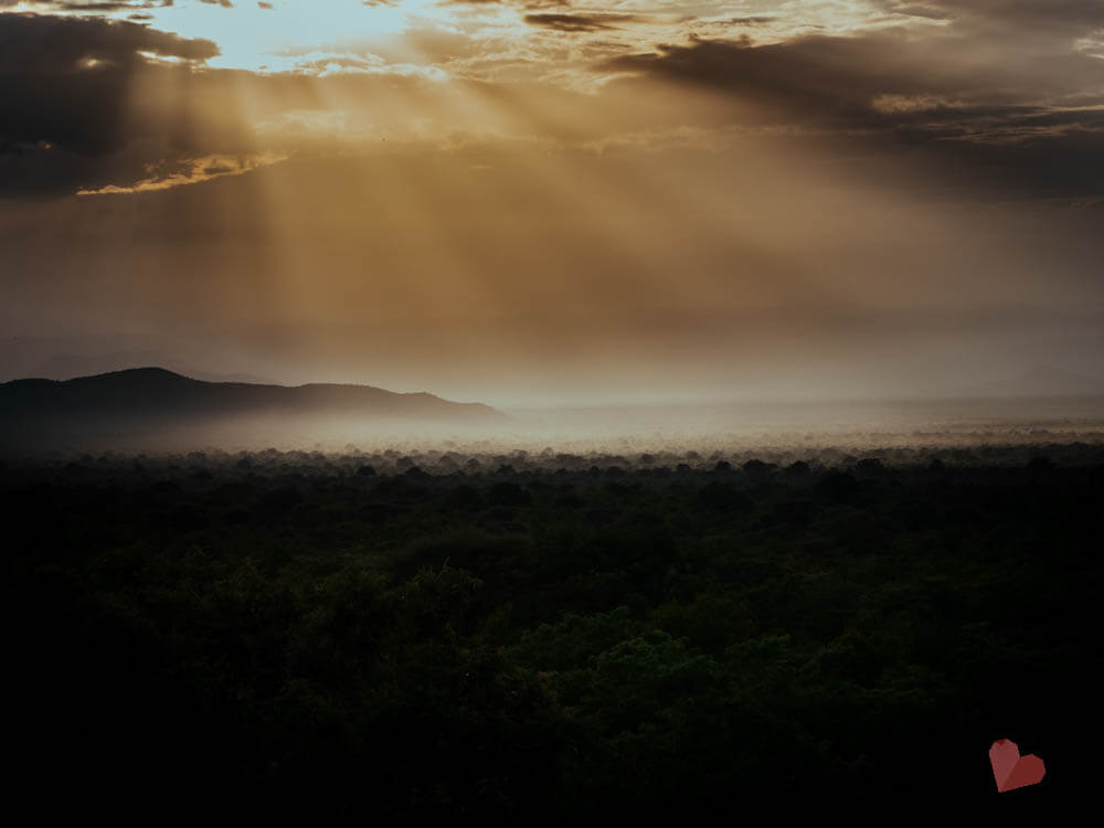Maweninga Camp Sonnenuntergang über Lake Manyara