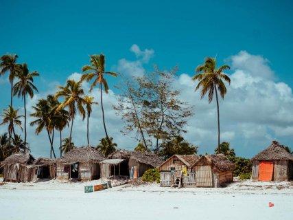 Strandhütten in Matemwe
