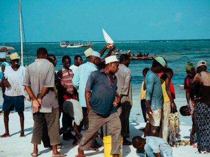 Fischverkauf direkt am Strand