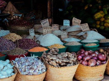 Reis auf Markt in Stone Town