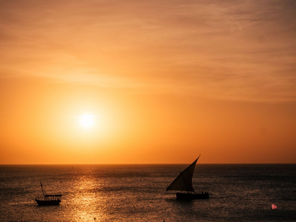 Sundwon in Zanzibar, Dachterrasse Africa House Hotel in Stone Town