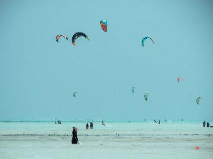 Kitesurfer in Paje