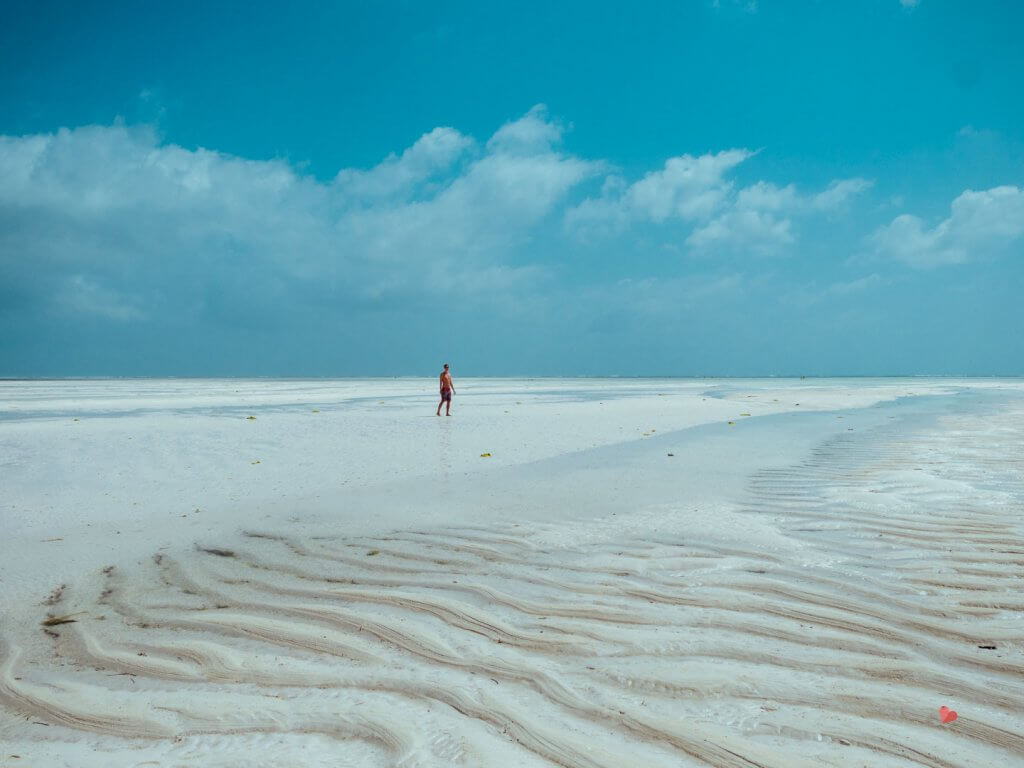 Traumstrand auf Zanzibar - Paje Beach