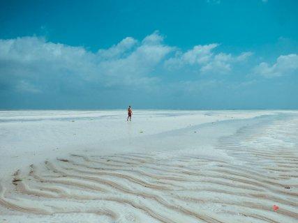 Der Strand von Paje bei Ebbe