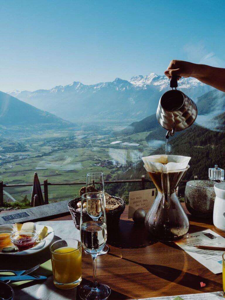 frischer Kaffee im Hotel das Gerstl