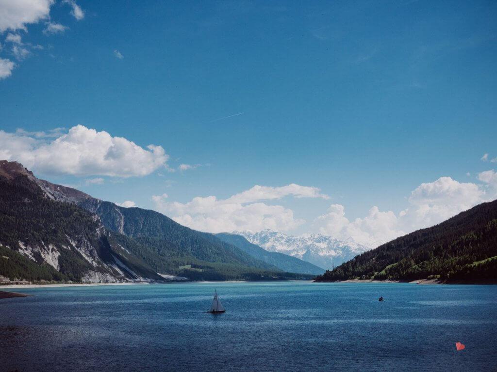 Blick auf den Reschensee