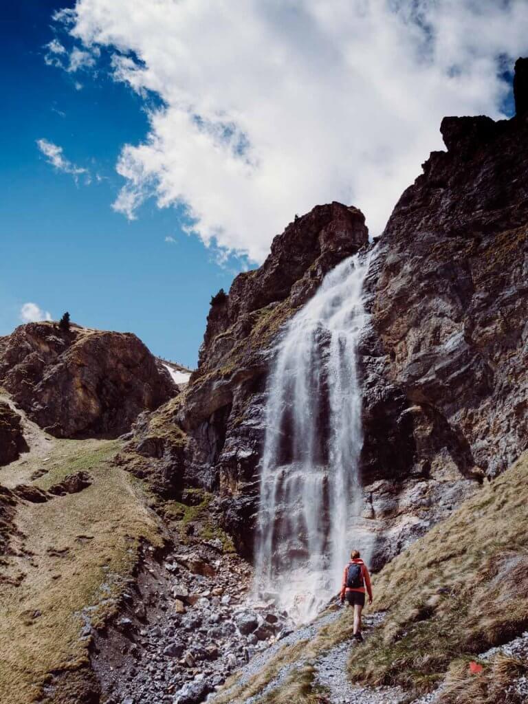 Wasserfall im Vinschgau auf dem Weg zur Sesvenna Hütte