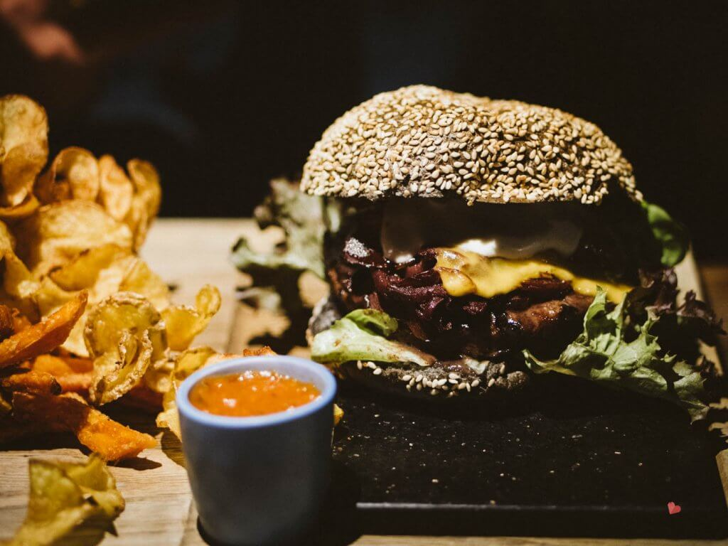 Leckerer Burger im mama thresl