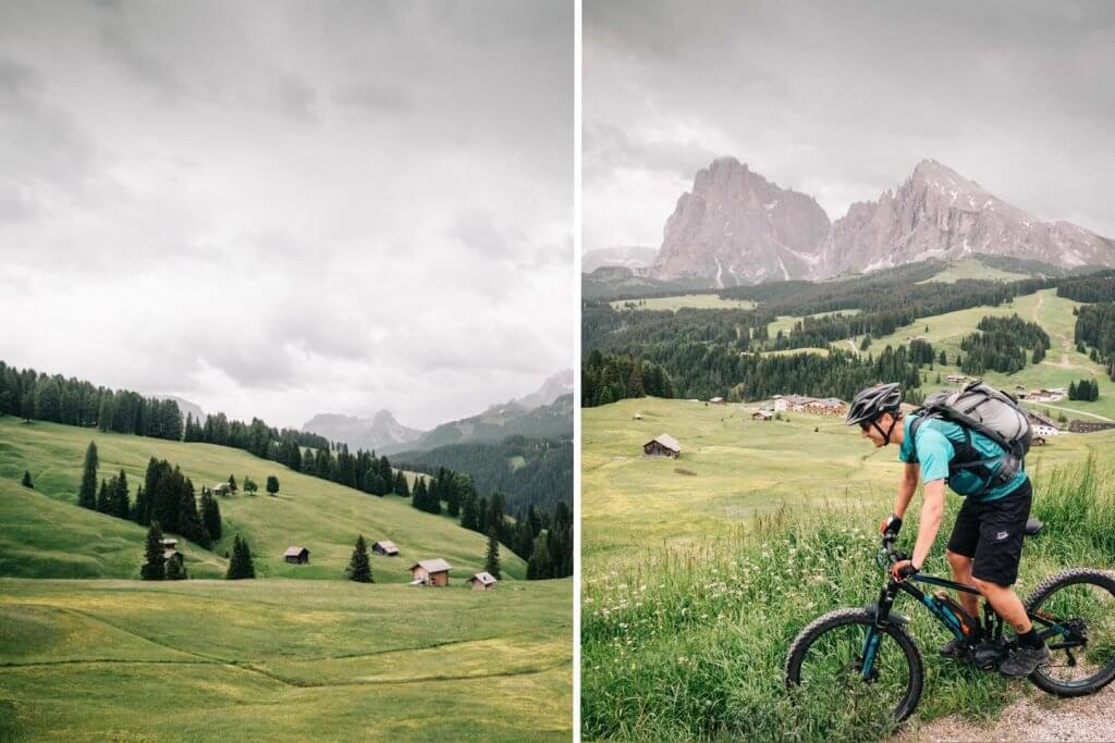 Urlaub in den Dolomiten - Mountainbike Tour auf der Seiser Alm