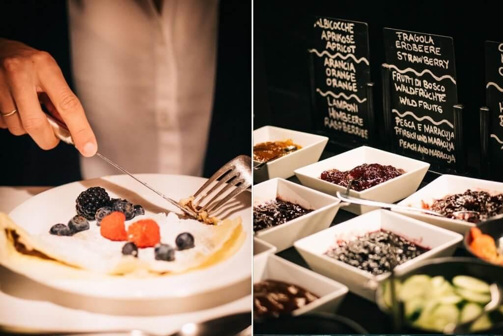 Urlaub in den Dolomiten - Frühstück im Adler Dolomiti Wellness Hotel