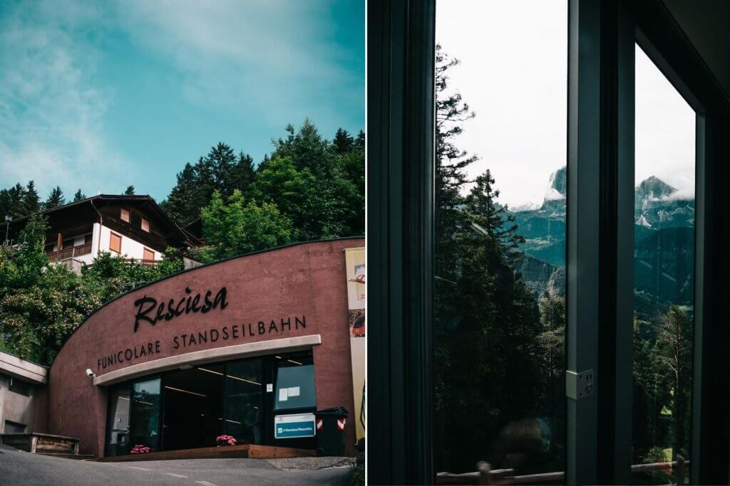 Urlaub in den Dolomiten - Resciesa Standseilbahn
