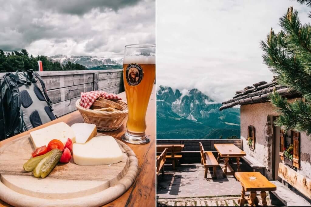 Baita Cason - Wandern in den Dolomiten - Raschötz