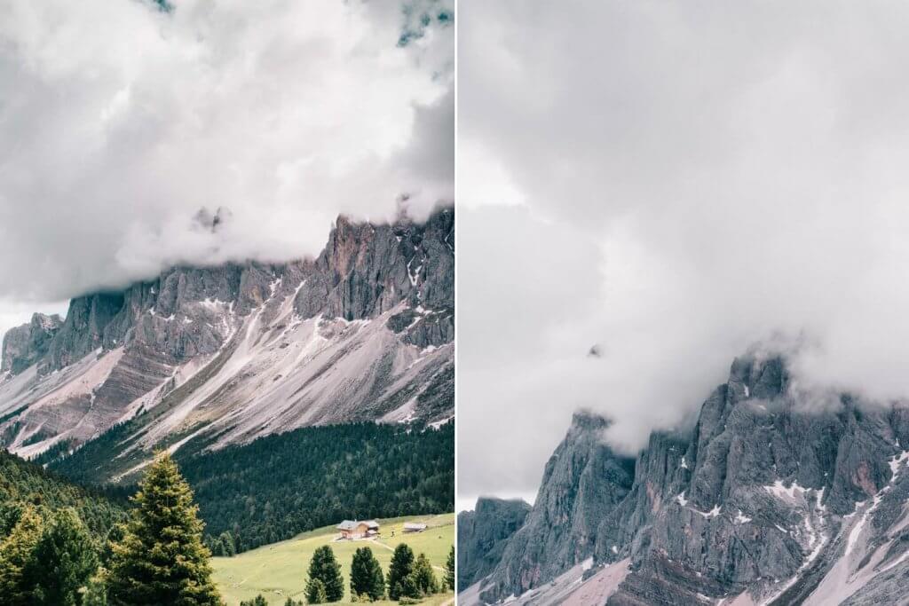 Urlaub in den Dolomiten - Wanderung Resciesia - Puez-Geisler - Blick auf Seceda