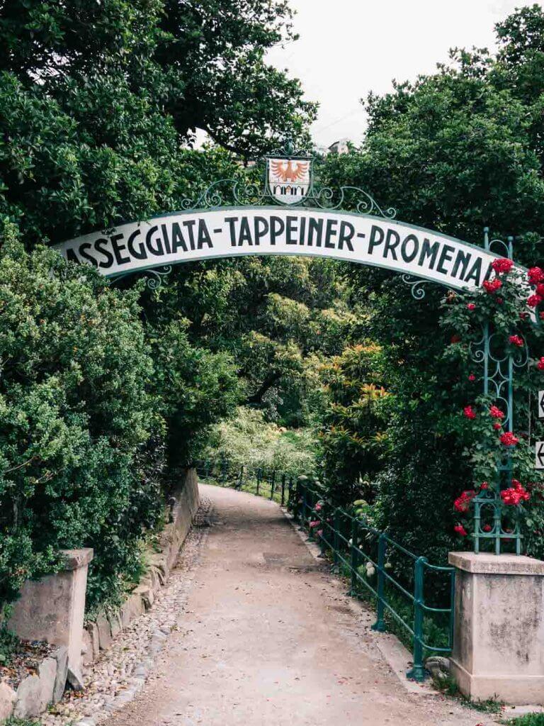 Tappeiner Promenade - Urlaub in Meran