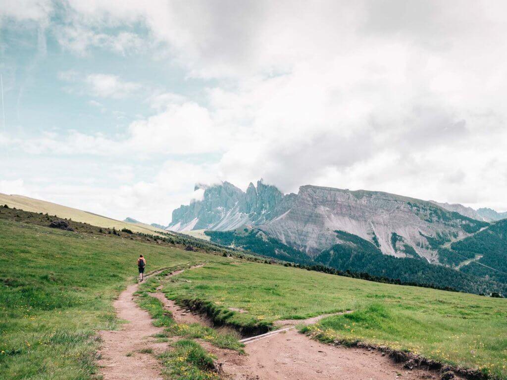 Urlaub in den Dolomiten - Wanderung Raschötz - Puez-Geisler